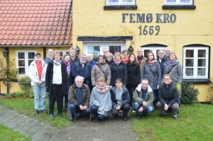 Deltagare i workshopen på Femö från Danmark, Finland och Sverige